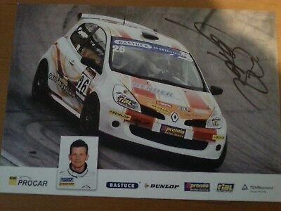 Procar BRT Racing Alexander Prinz Renault Clio Autogrammkarte m. Unterschrift