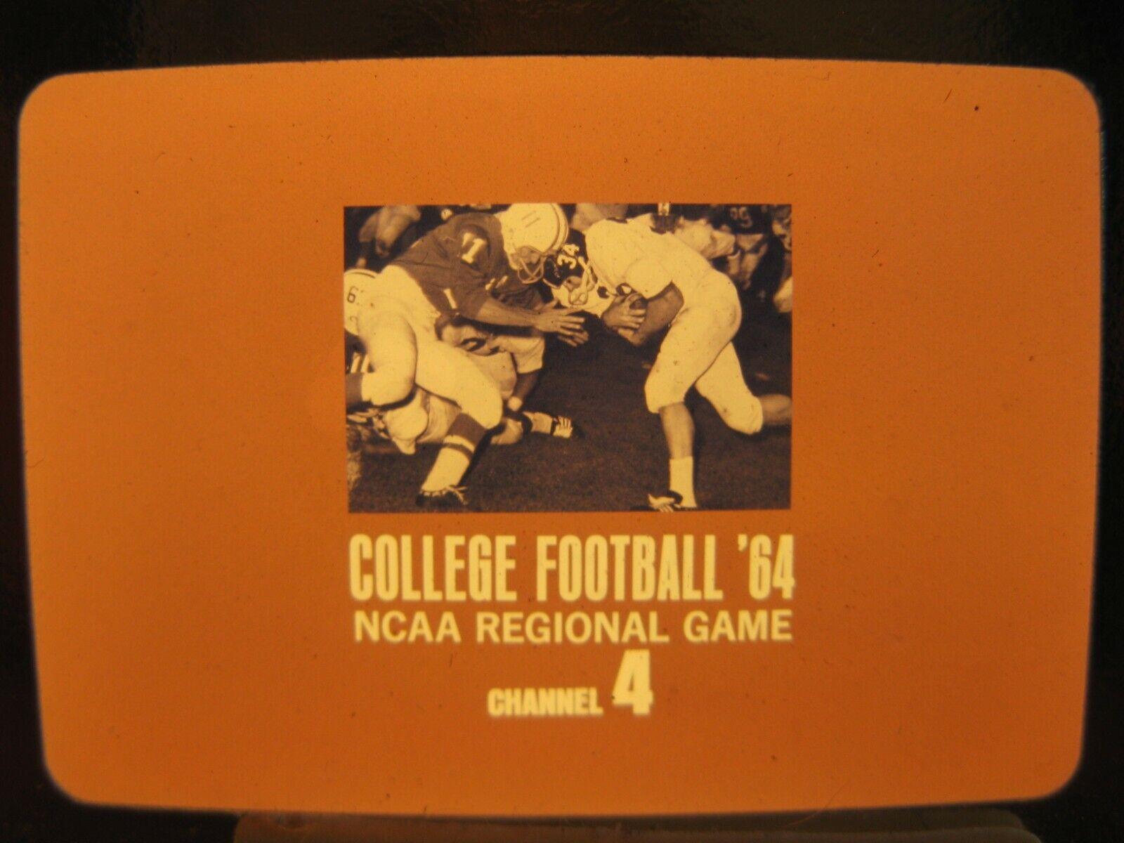 Vintage college football promo~ 1964 ncaa regional game~ nbc advertisement~ orig