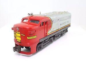 alter Lionel Santa Fe 8020 Triebwagen Diesel-Lok Spur 0 - LÄUFT!