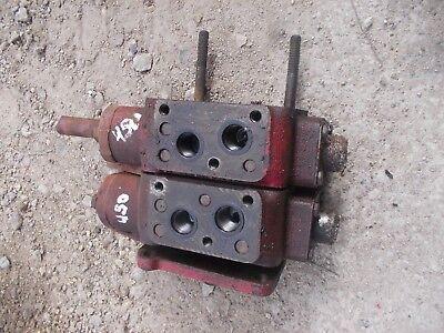 Farmall 400 450 Tractor Ih Hydraulic Control Valve 2 Blocks Behind Dash Bolts C