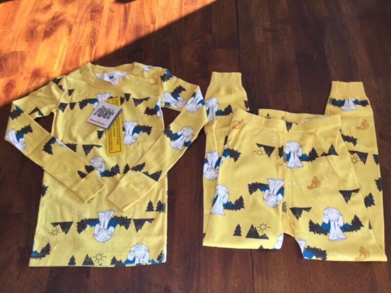 Hanna Andersson 120 Small foot yellow pajamas NWT