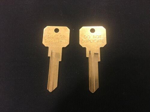"""2 Kwikset KW1 / KW10 """"Do not Duplicate"""" brass key blanks, New Ilco brand 5 pin,"""