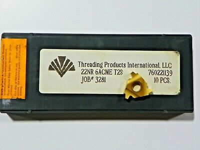 10 Pieces Of Tpi 22nr 6acme T2s Carbide Inserts  H377