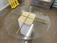Glass & Natural Stone Table