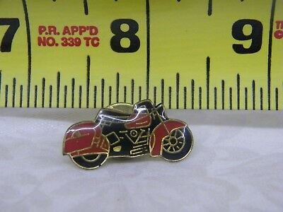 Red and Black Motorcycle Hat Lapel and Back