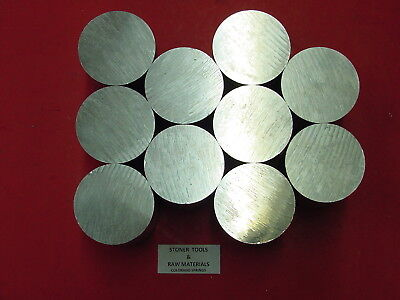 10 Pieces 2 Aluminum 6061 Solid Round Rod 0.65 Long Cut New Lathe Bar Stock