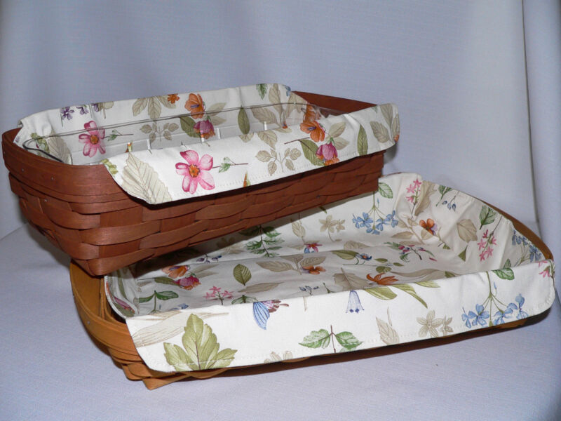 LONGABERGER Small Serving Tray or Bread LINER ONLY - Botanical Fields - NEW