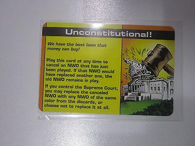 Unconstitutional   Promo Special    Illuminati Card Game     Ultra Rare