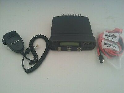 Motorola Cdm1250 Vhf 45 Watts 64 Ch 136-174 Mhz With Mic And Power Cable
