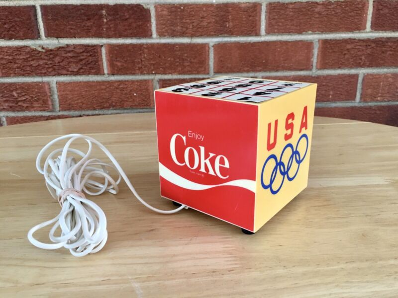 Vintage 1980s Coca Cola Olympics Coke Cube Hands Free Pulse Dial Phone