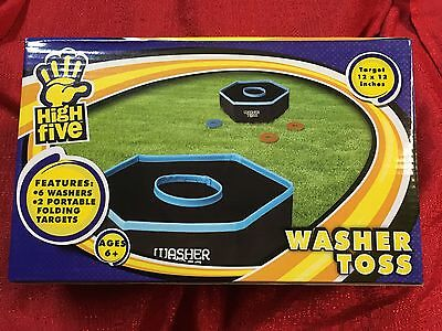 Fabric Washer Toss Game Set - Outdoor Backyard Party Beach Game - New (Washer Toss Game)