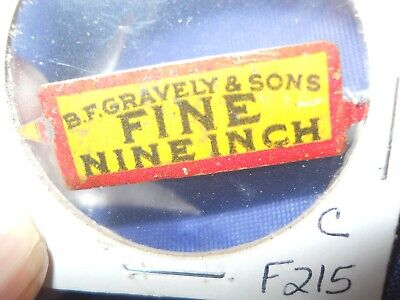 B F  GRAVELY & SON'S FINE  NINE INCH TOBACCO TAG WITH TWO TICS