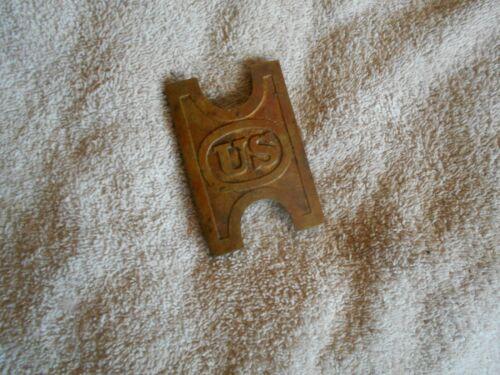Original US spanish american war Belt buckle Brass krag cartridge belt buckle