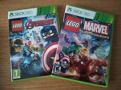 Lego Marvel and Avengers Xbox 360 Games X2