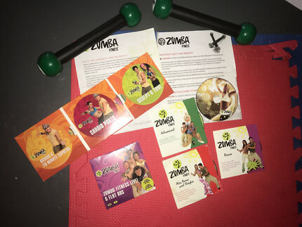 Zumba Fitness dvd pack & weights/marracas