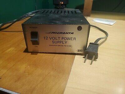 Micranta Regulated 12 Volt Power Supply Cat No 22-124 120