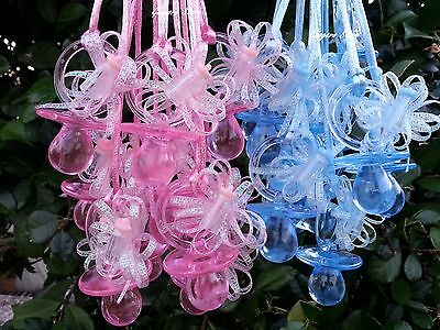 Pacifier Necklaces with bottle Baby Shower Games Favor Prize Boy Girl~Pick Color - Games With Babies