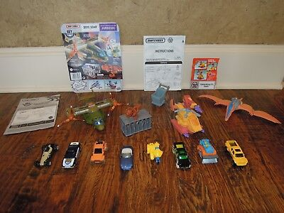 Matchbox Mega Rig Terrordactyl trap & Dino Soar plane w/8 Matchbox vehicles