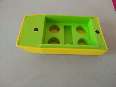 Vintage Fisher Price Little People  Lime Green/Yellow Boat  for PopUp Camper 992