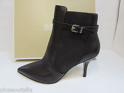 Michael Kors Size 9  Brown Leather Ankle Bootie New Womens Shoes