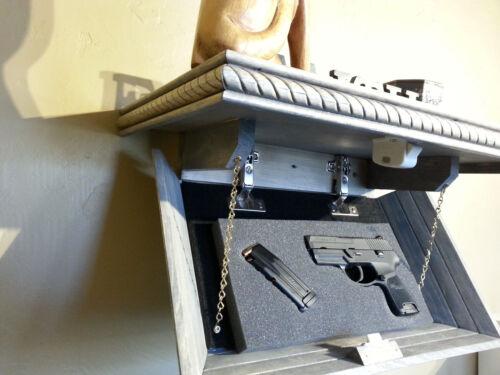 "21"" Hidden Compartment Tactical Shelf Gun Concealment Weathered Grey Finish"