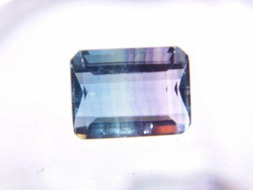 Multi-color (Blue-Green-Pur) Fluorite 16x12x9mm Emerald 15.42Ct Natural Gemstone