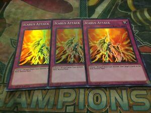 Yu-Gi-Oh Icarus Attack WIRA-EN058! Super Rare! 1st! X3!!