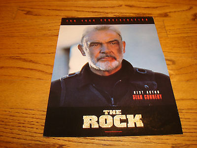 THE ROCK 1995 Oscar ad with Sean Connery for Best Actor, Nicolas