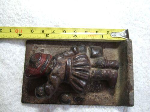 VINTAGE/ANTIQUE CAST IRON DOOR KNOCKER LITTLE GIRL WITH BASKET 1921 HUBLEY?
