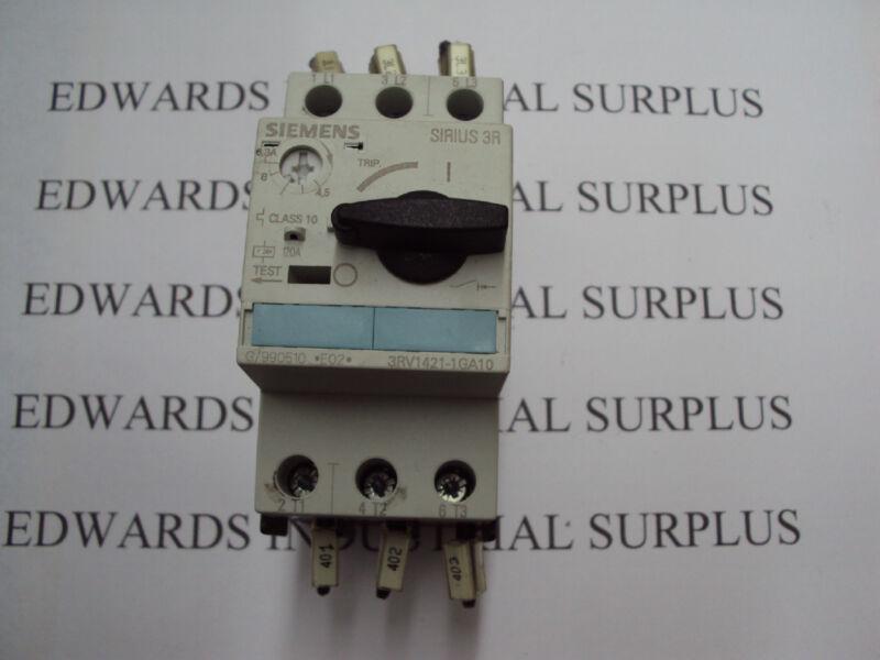Siemens Contactor Overload Relay 3RV1421-1GA10 Controller 3ZX1012-0RV02-1AA1