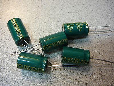 Sanyo 100mv100gx 100uf 100v Radial Electrolytic Capacitor New Qty.9