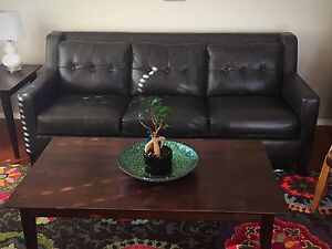 Leather Sofa, Love Seat and Ottoman