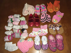 Girls sock and shoes- 15$