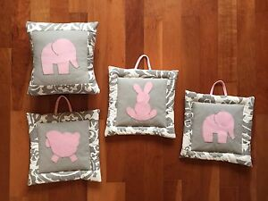 Nursery wall hangings & pillow