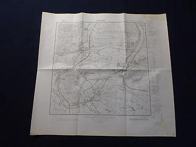 Landkarte Meßtischblatt 3150 Oderberg, Hohenwutzen, Hohensaaten, von 1945