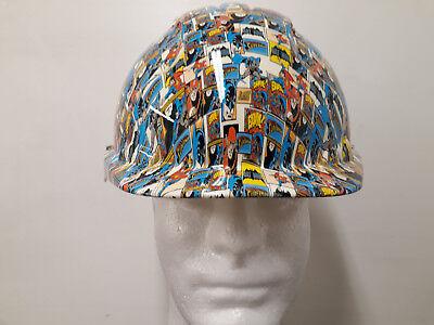 Batman Hard Hat (jsp evo2 Hard Hat Safety Helmet batman design wall art man cave builder)