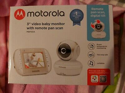 Motorola MBP30A Video 3 Inch Baby Monitor With Remote Pan Scan-RK123