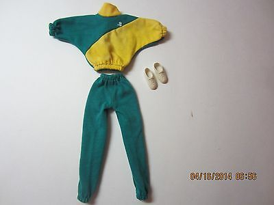 Vintage Barbie Jogging Suit Outfit With Shoes #2180 B Active Fashions Early 80's