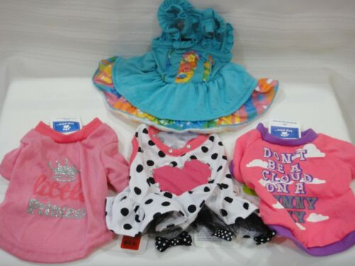 4 TOP PAW Doggie Girls Outfits X Small NEW WITH TAGS