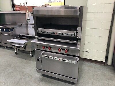 American Range Agbu-3 Infrared Upright Broiler With Standard Oven - Used