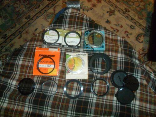 Vintage Tiffen Soligor, Camera Filter, Polarizer, Adapter, Parts Lot Of 13 Items