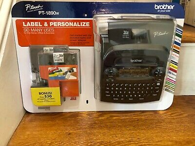 Brother P-touch Pt-1890w Labeler 2tapes Thermal Machine Label Printer Maker New