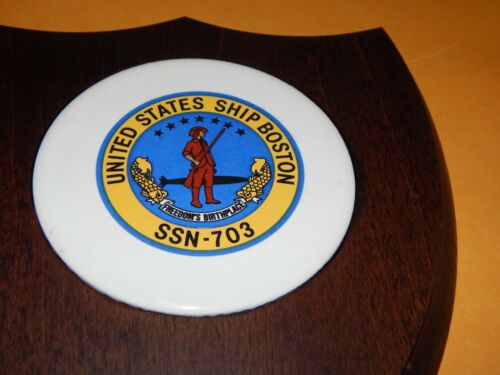 VINTAGE USS BOSTON US NAVY SUBMARINE SSN-703 PLAQUE