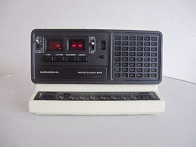 Grundig SONO CLOCK 650 Vintage Radio Wecker 70er Jahre TOP
