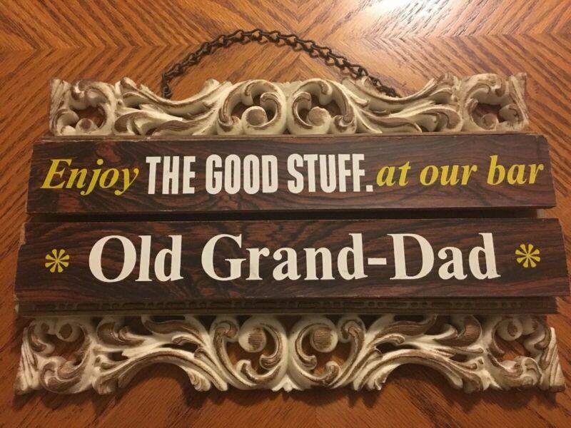 Vintage Old Grand-Dad Sign. Beer Liquor Signage Display