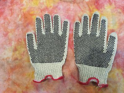 Lot Medium Kevlar Pvc-dot Cut Resistant Work Gloves Honeywell Safety Crtd17lr