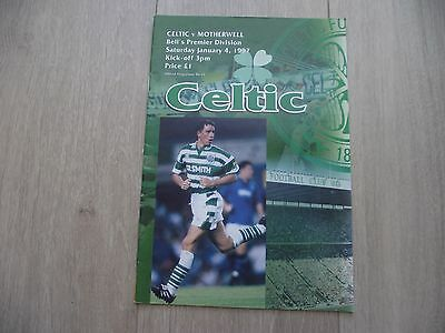 1996-97 Celtic v Motherwell  -  Scottish Premier  League