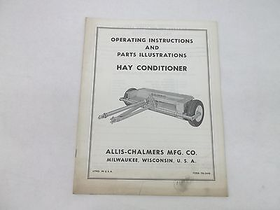 Allis Chalmers Hay Conditioner Operating Instructions Parts List