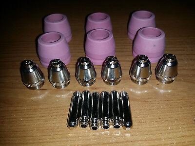 Simadre Plasma Cutter Consumables For 50dp 520dp 60sp 70sp Pilot Arc 18pcs