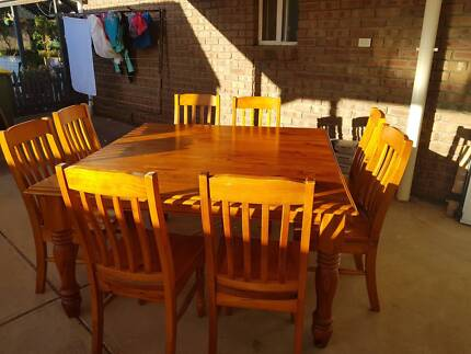 8 Seat Square Dining Table And Chairs